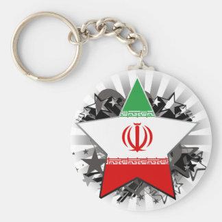 Estrella de Irán Llavero Redondo Tipo Pin