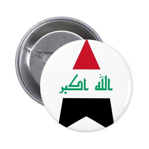 Estrella de Iraq Pin Redondo 5 Cm