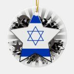 Estrella de Israel Ornamento Para Arbol De Navidad