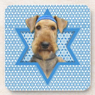 Estrella de Jánuca de David - Airedale Terrier Posavasos