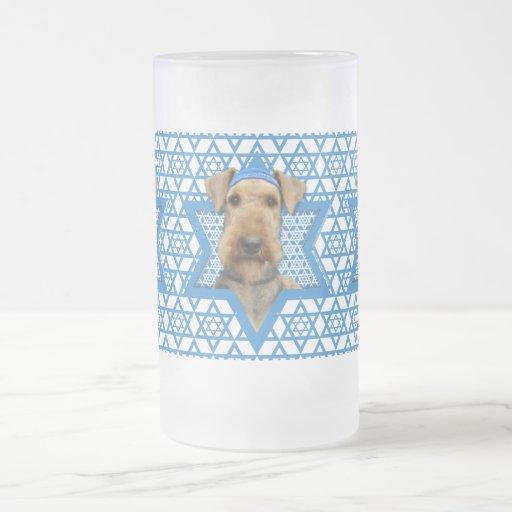 Estrella de Jánuca de David - Airedale Terrier Taza De Café