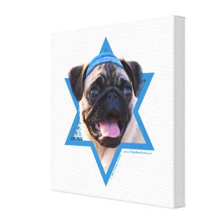 Estrella de Jánuca de David - barro amasado Impresión En Lona Estirada