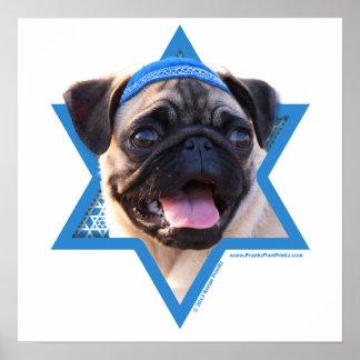 Estrella de Jánuca de David - barro amasado Poster