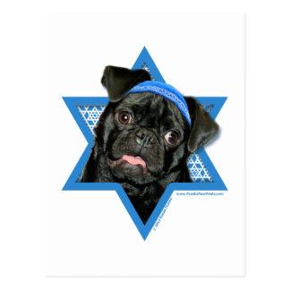 Estrella de Jánuca de David - barro amasado - Postal