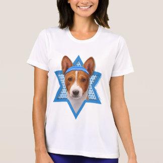Estrella de Jánuca de David - Basenji Camiseta