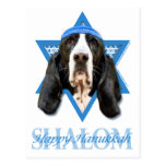 Estrella de Jánuca de David - Basset Hound - jazmí Postal