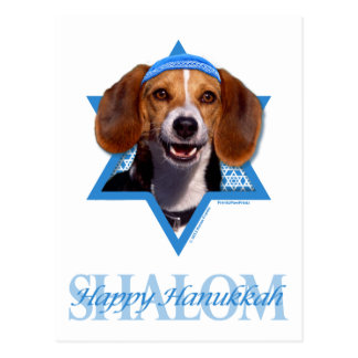 Estrella de Jánuca de David - beagle Postal