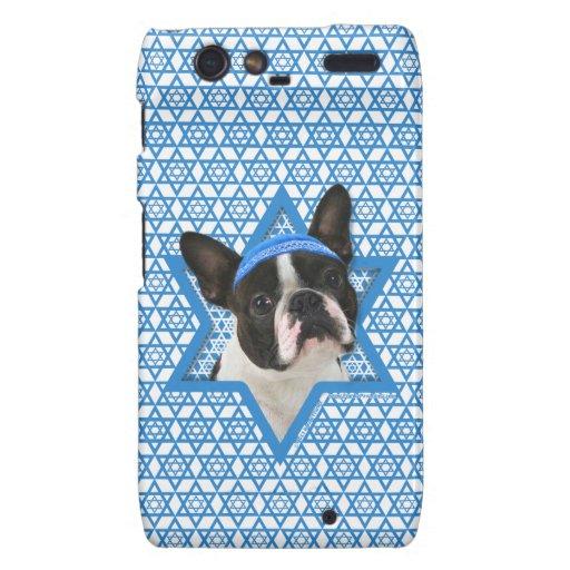 Estrella de Jánuca de David - Boston Terrier Motorola Droid RAZR Funda