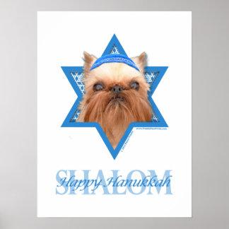 Estrella de Jánuca de David - Bruselas Griffon Poster