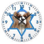 Estrella de Jánuca de David - caballero Reloj De Pared