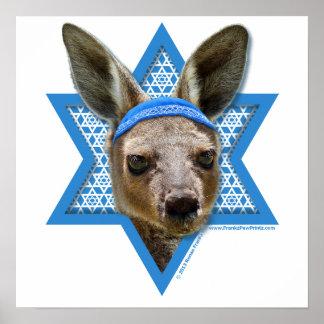 Estrella de Jánuca de David - canguro Poster