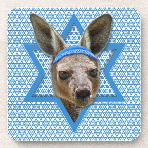 Estrella de Jánuca de David - canguro Posavasos De Bebida