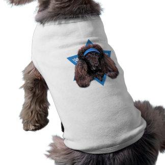 Estrella de Jánuca de David - caniche - Bix Playera Sin Mangas Para Perro