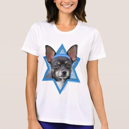 Estrella de Jánuca de David - chihuahua Camiseta