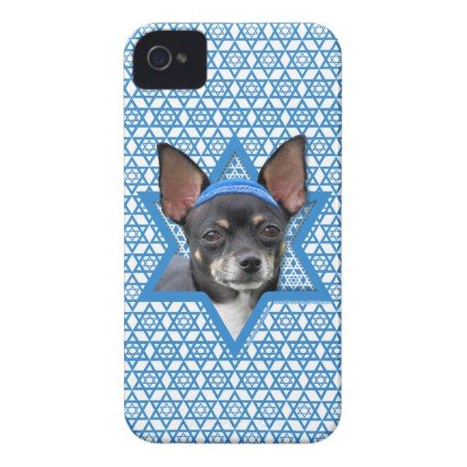 Estrella de Jánuca de David - chihuahua iPhone 4 Case-Mate Protector