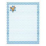 Estrella de Jánuca de David - chihuahua Plantillas De Membrete