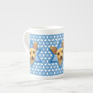 Estrella de Jánuca de David - chihuahua Taza De Porcelana
