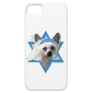 Estrella de Jánuca de David - chino Crested iPhone 5 Case-Mate Carcasa