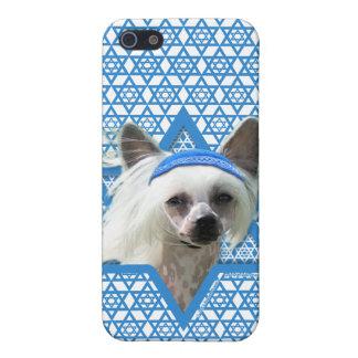 Estrella de Jánuca de David - chino Crested iPhone 5 Protector