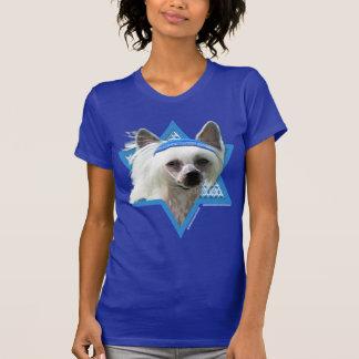 Estrella de Jánuca de David - chino Crested Camisetas