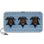 Estrella de Jánuca de David - chocolate Labrador Laptop Altavoces