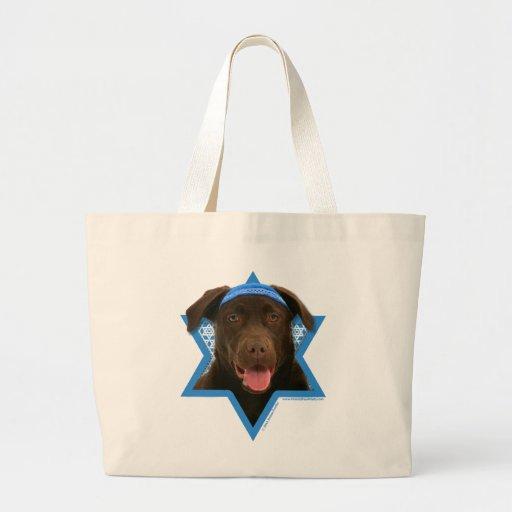 Estrella de Jánuca de David - chocolate Labrador Bolsa De Mano