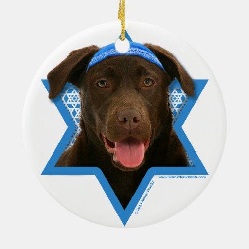 Estrella de Jánuca de David - chocolate Labrador Ornamente De Reyes