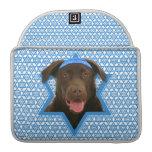 Estrella de Jánuca de David - chocolate Labrador Fundas Para Macbook Pro