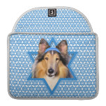 Estrella de Jánuca de David - collie Funda Para Macbooks