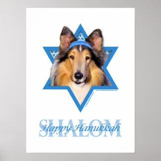 Estrella de Jánuca de David - collie Posters