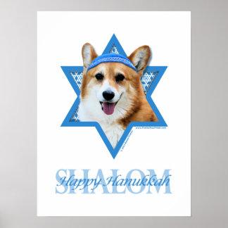 Estrella de Jánuca de David - Corgi - Owen Posters