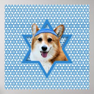 Estrella de Jánuca de David - Corgi - Owen Poster