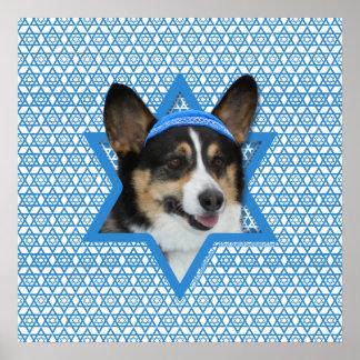 Estrella de Jánuca de David - Corgi Impresiones