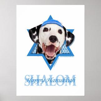 Estrella de Jánuca de David - Dalmatian Poster
