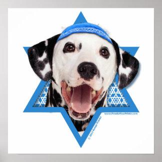 Estrella de Jánuca de David - Dalmatian Posters