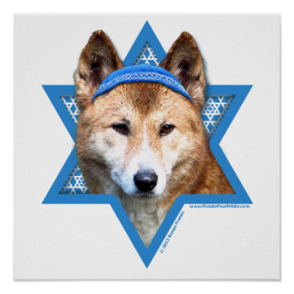 Estrella de Jánuca de David - Dingo Posters