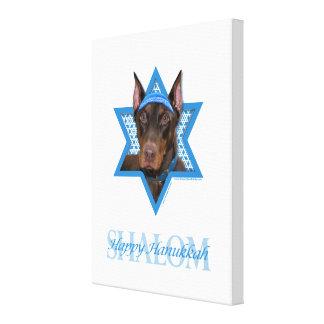 Estrella de Jánuca de David - Doberman - Rocky Impresión De Lienzo