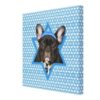 Estrella de Jánuca de David - dogo francés - trull Impresiones En Lienzo Estiradas