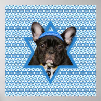 Estrella de Jánuca de David - dogo francés - trull Poster