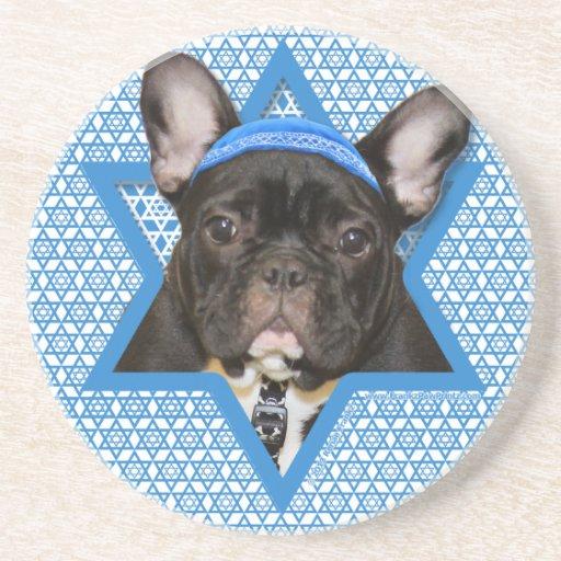 Estrella de Jánuca de David - dogo francés - trull Posavasos Manualidades