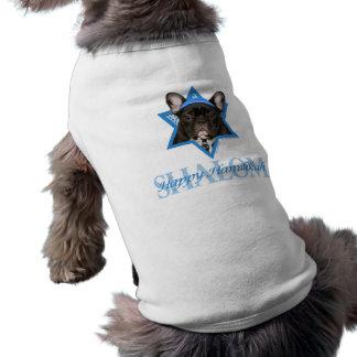 Estrella de Jánuca de David - dogo francés - trull Playera Sin Mangas Para Perro