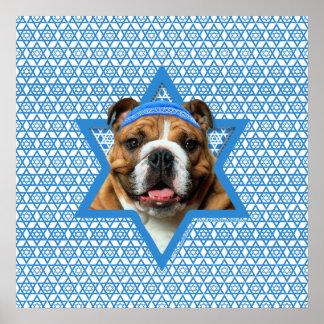 Estrella de Jánuca de David - dogo Poster