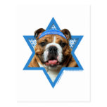 Estrella de Jánuca de David - dogo Postal