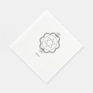Estrella de Jánuca de David en servilletas (del Servilletas Desechables