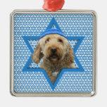 Estrella de Jánuca de David - GoldenDoodle Ornamentos De Navidad