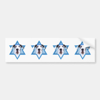 Estrella de Jánuca de David - great dane - Harlequ Pegatina Para Auto