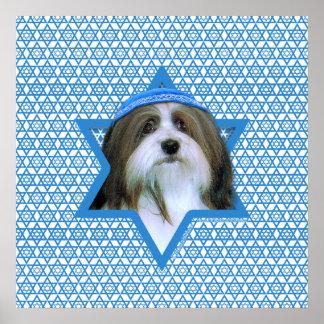 Estrella de Jánuca de David - Havanese Posters