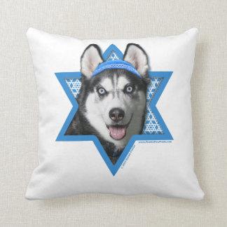 Estrella de Jánuca de David - husky siberiano Almohadas