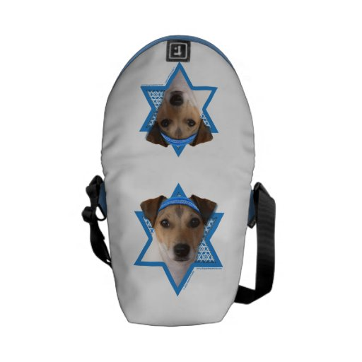 Estrella de Jánuca de David - Jack Russell Terrier Bolsa Messenger