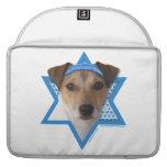 Estrella de Jánuca de David - Jack Russell Terrier Funda Macbook Pro